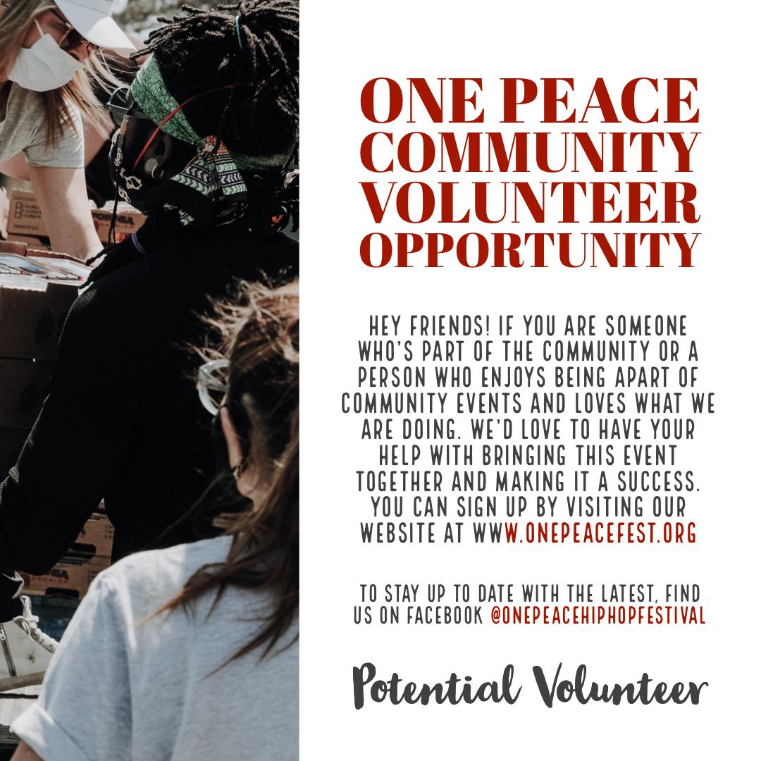 One Peace Festival Volunteer